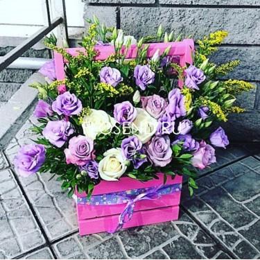 Цветы в коробке № 174